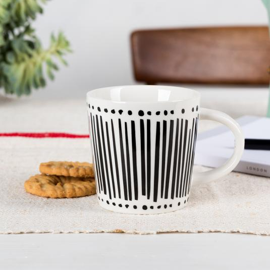 Monochrome Porcelain Mug