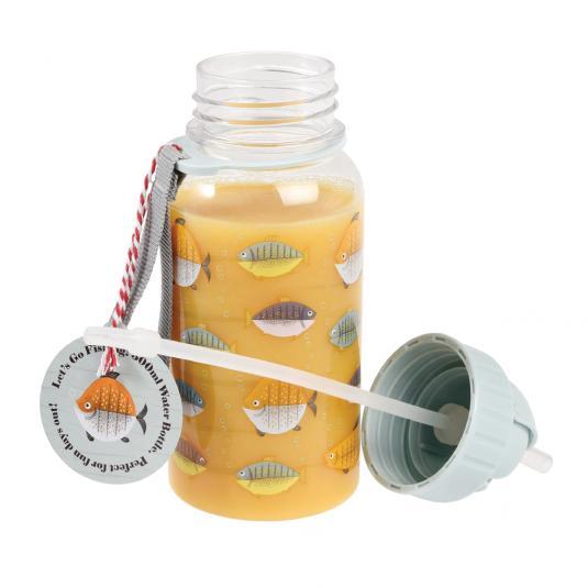 Fish Print Plastic Water Bottle
