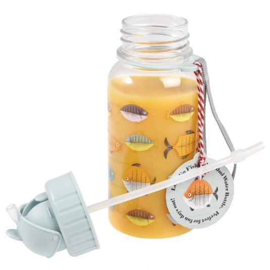 Let's Go Fishing Design Kids Water Bottle