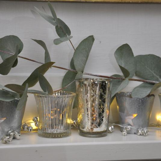 Fluted Antique Glass Tealight Holder