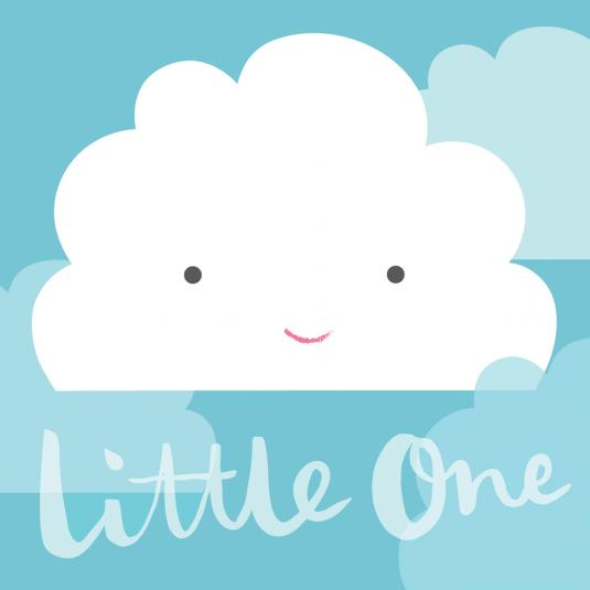 Little One Cloud Square Card