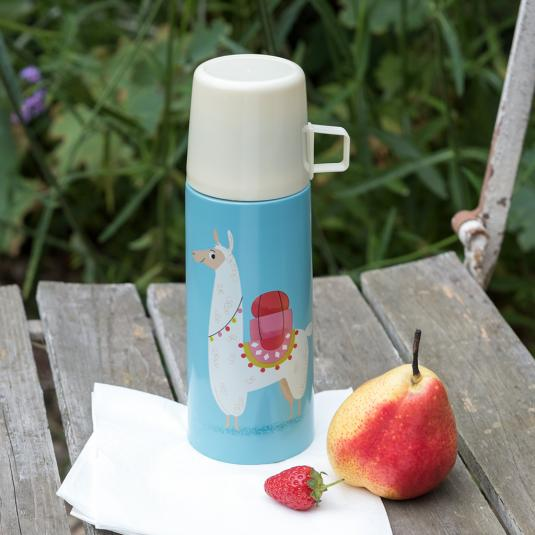 stainless steel vacuum flask and cup llama design
