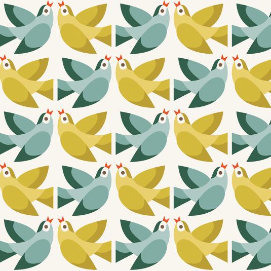 Love Birds print gift wrap