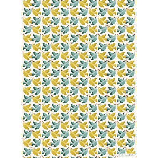 Sheet of Love Birds printed wrap