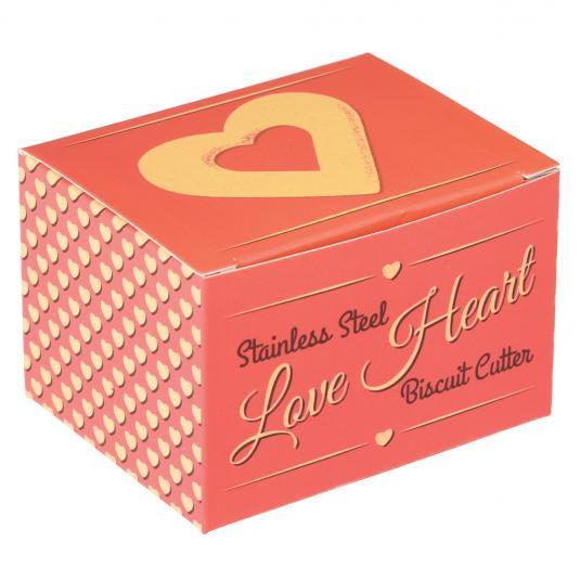 Love Heart Biscuit Cutter in a Retro Box