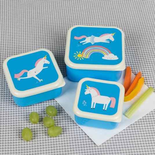 Magical Unicorn nesting snack boxes