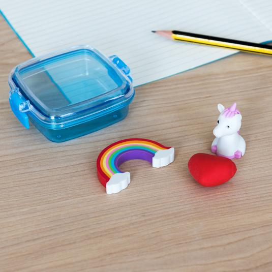 Magical Unicorn mini eraser set