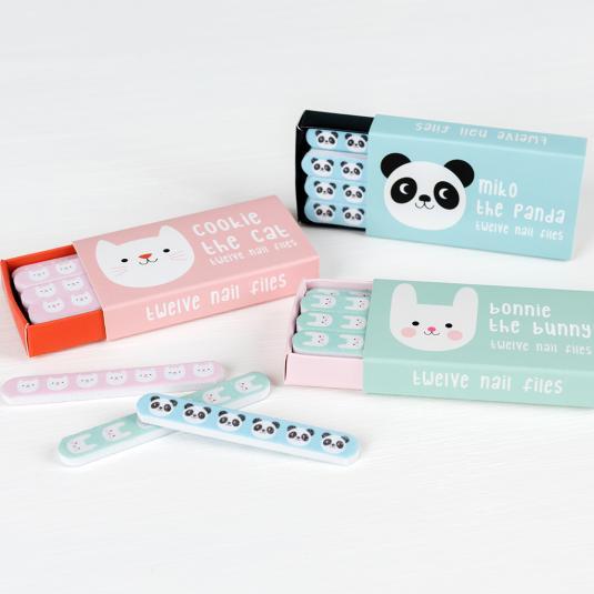 Set of 12 mini matchbox nail files