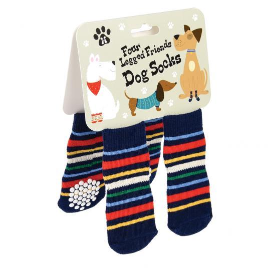 Medium Stripy Dog Socks