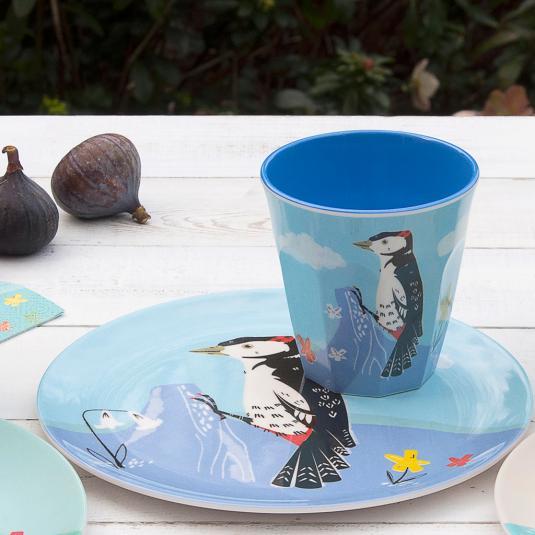 Melamine Plate Woodpecker
