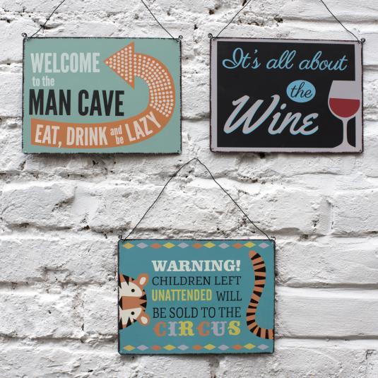 Wall Hanging Metal Signs
