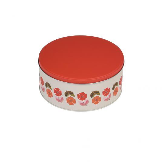 Mid Century Poppy Biscuit Tin