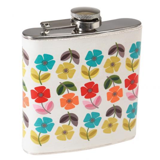 Floral Print Hip Flask