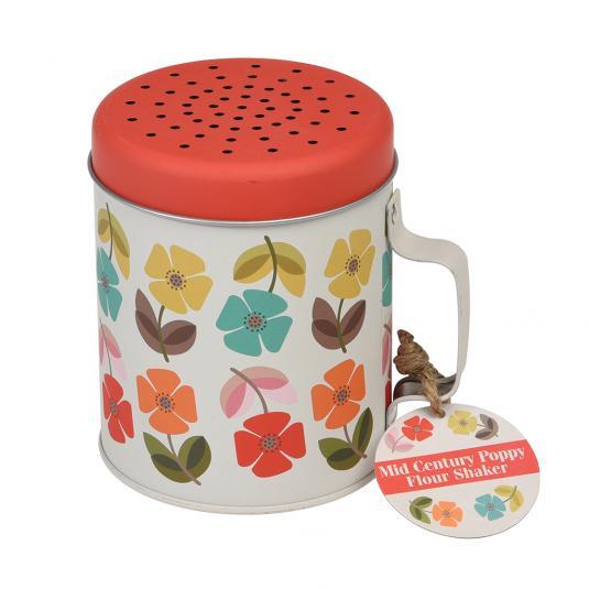 Mid Century Poppy Flour Shaker