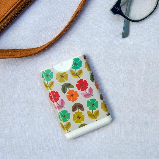 Mid Century Poppy Pocket Hand Sanitiser