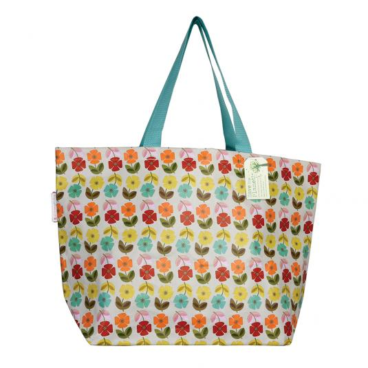 Floral shopping and beach bag - Mid Century Poppy