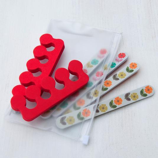 Mid Century Poppy Nail Care Kit