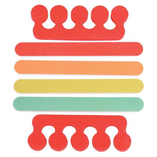Colourful nail files and separators