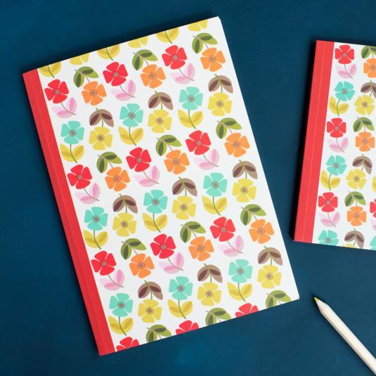 Mid Century Poppy Notebook