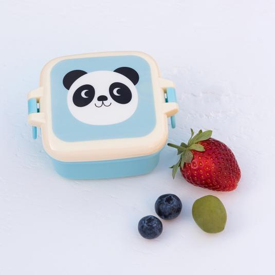 Blue kids Snack Pot panda printed lid