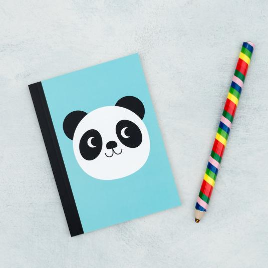 Miko the Panda lined A6 notebook