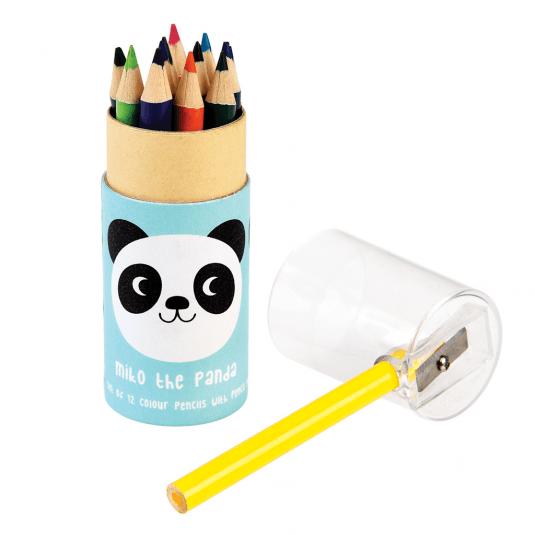 Miko The Panda Colouring Pencils (set Of 12)
