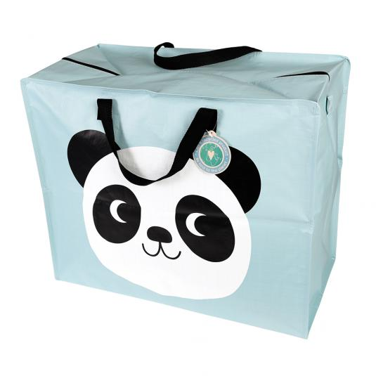 large blue multi-use storage bag made from recycled plastic