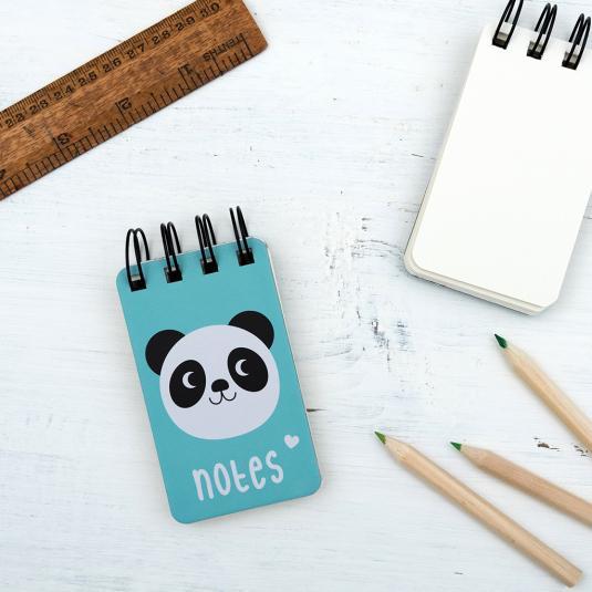 Mini Panda Spiral Notebook