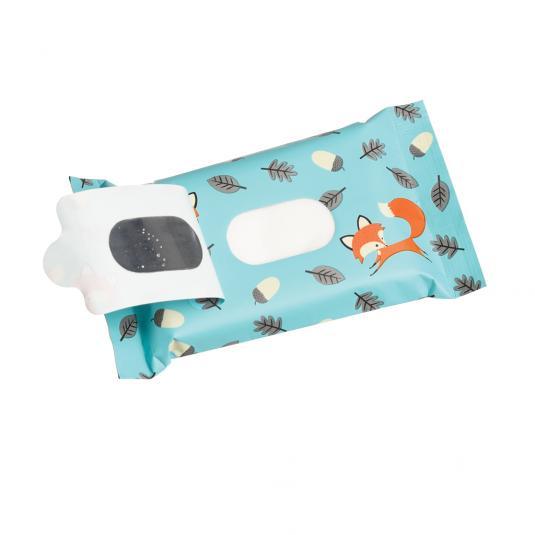 Fox Print Pack of Mini Wet Wipes