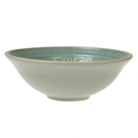 Mint green mezze dish