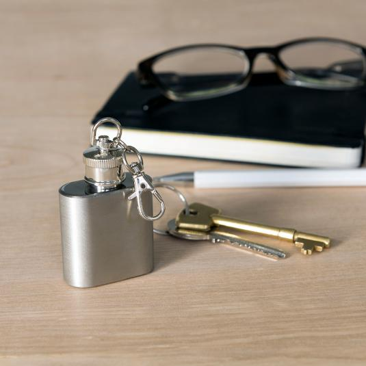 Mini Hip Flask With Keyling