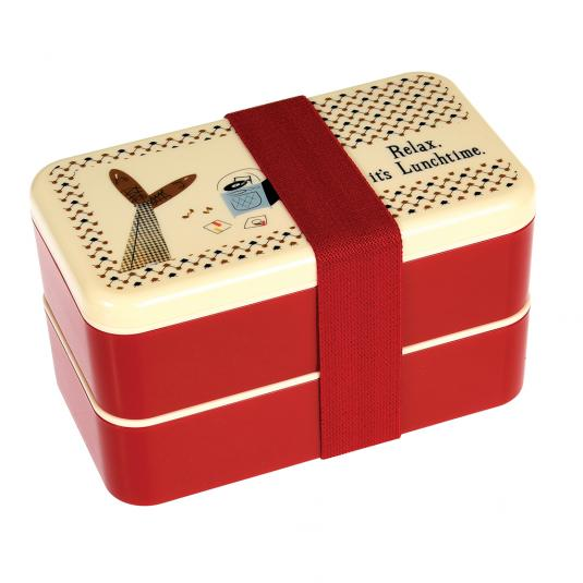 Modern Man red Adult Bento Box for him