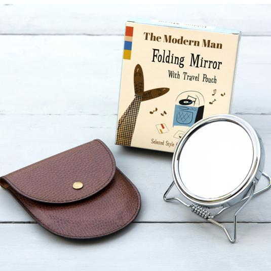 The Modern Man Folding Mirror With Travel Pouch