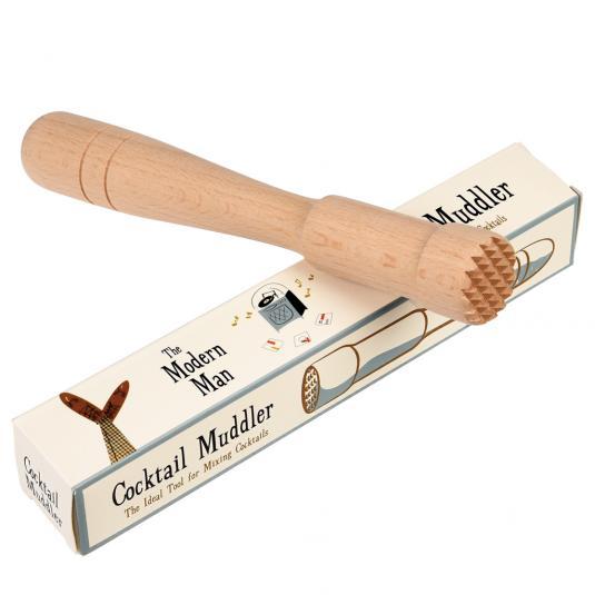 modern man design wooden cocktail muddler