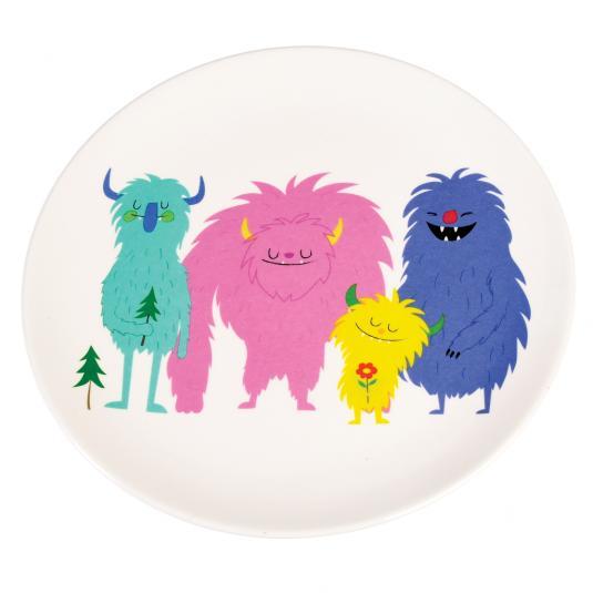 Monsters Of The World kid's Melamine Plate