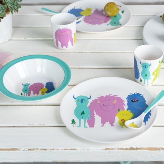 Children's Melamine Tableware: Monsters