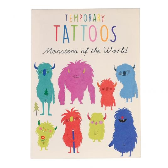 Colourful Monsters Temporary Tattoos