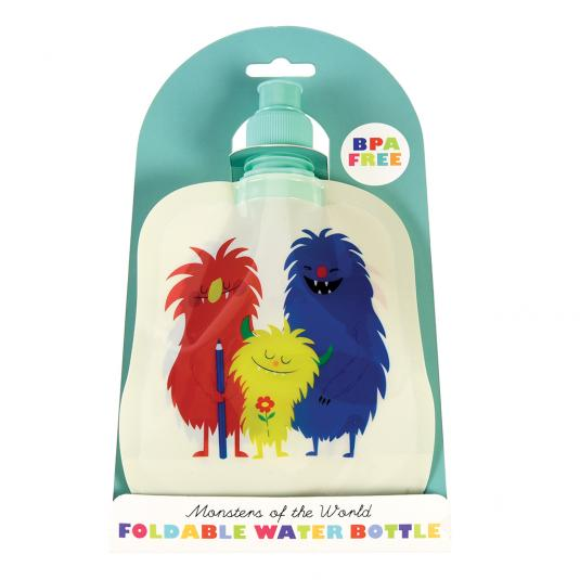 Monsters Of The World Folding Water Bottle