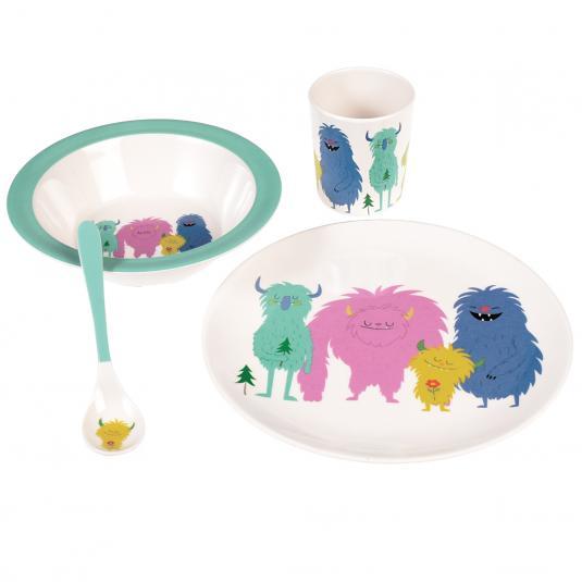 Monsters Of The World kid's dinner Melamine Set