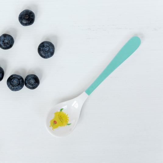 Children's melamine spoon monster print
