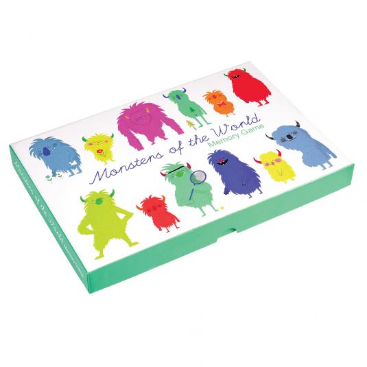 colourful monsters pint card memory game in a box