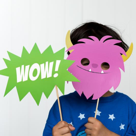 Fun Monster and Quote Photo Booth Props