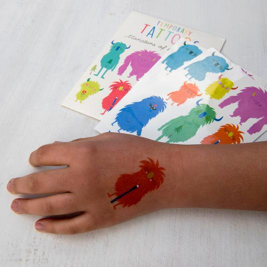 Monsters Of The World Temporary Tattoos