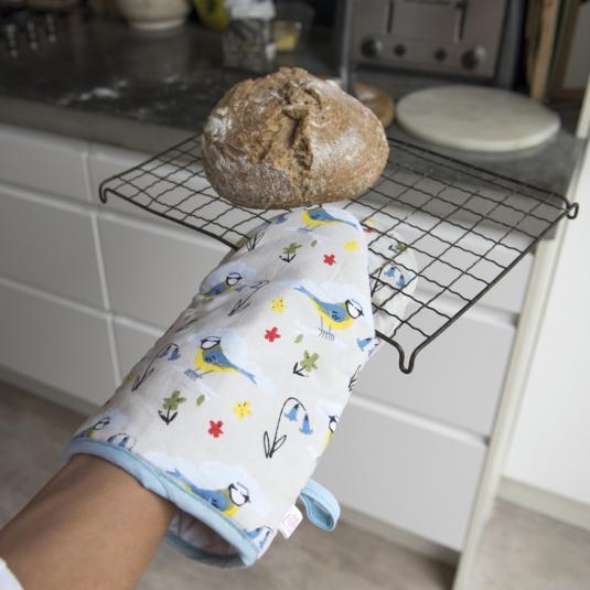Multiple Blue Tit Oven Glove