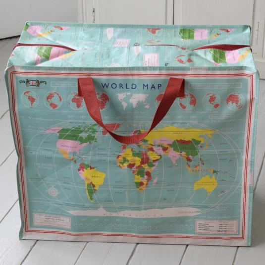 World Map Jumbo Storage Bag
