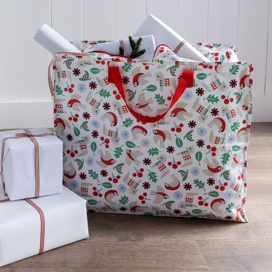 Nordic Christmas jumbo storage and laundry bag