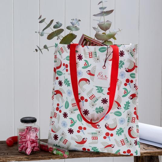 Scandinavian Christmas reusable shopping bag