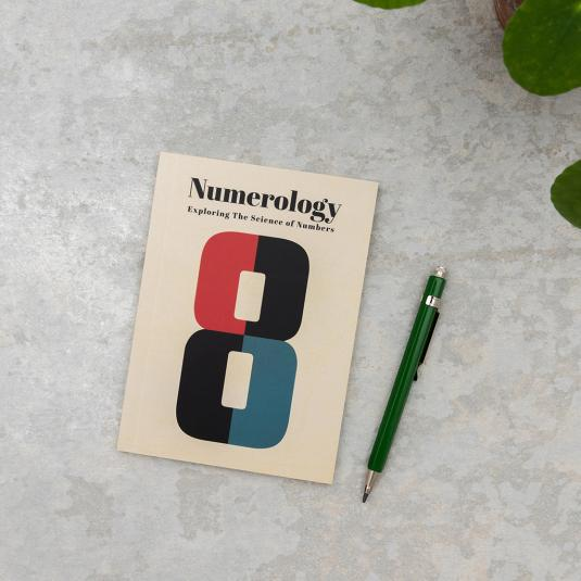 Numerology A6 notebook with lined pages
