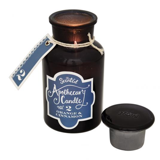Orange And Cinnamon Apothecary Candle