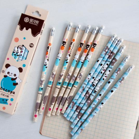 12 Choco Panda Pencils
